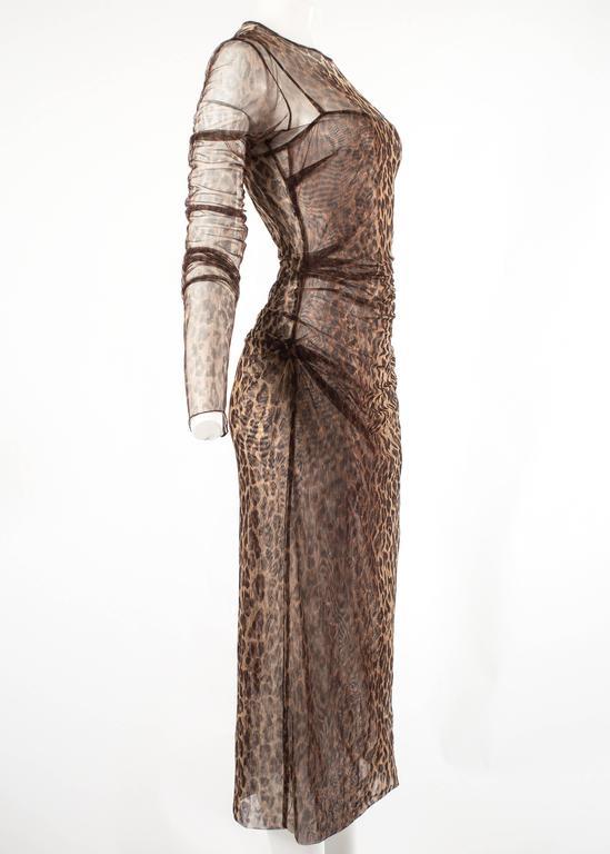 Dolce & Gabbana Spring-Summer 1997 leopard print mesh evening dress 5