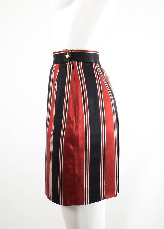 Vivienne Westwood Spring-Summer 1996 striped satin pencil skirt 2