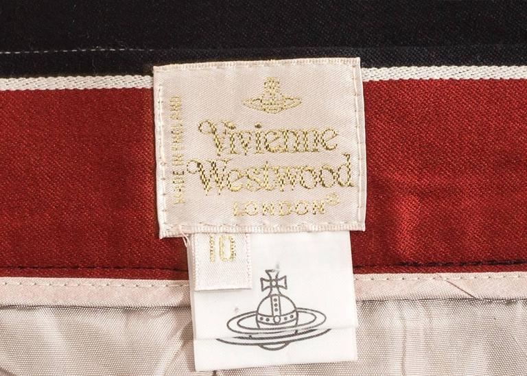 Vivienne Westwood Spring-Summer 1996 striped satin pencil skirt 5