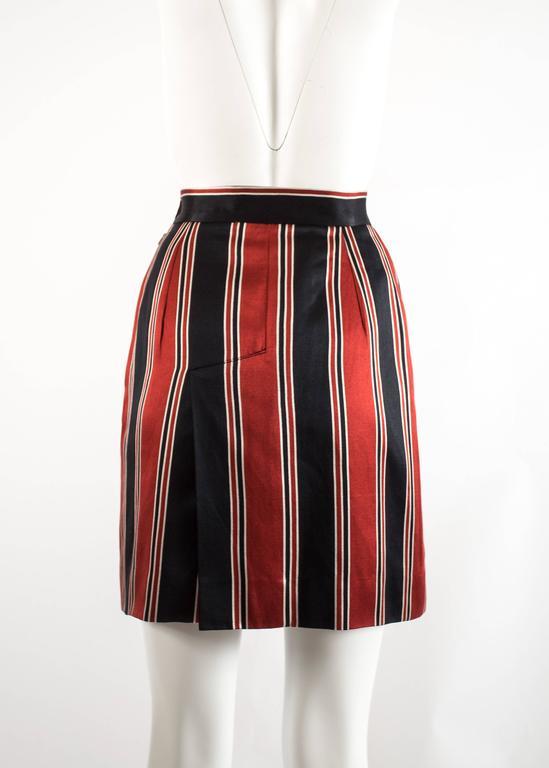 Vivienne Westwood Spring-Summer 1996 striped satin pencil skirt 4