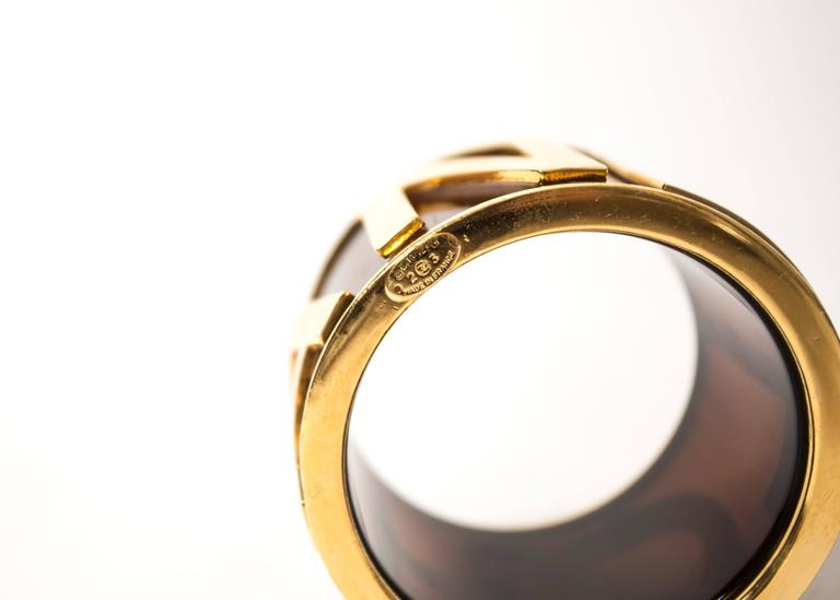 Black Chanel 1988 black and gold bangle bracelet For Sale