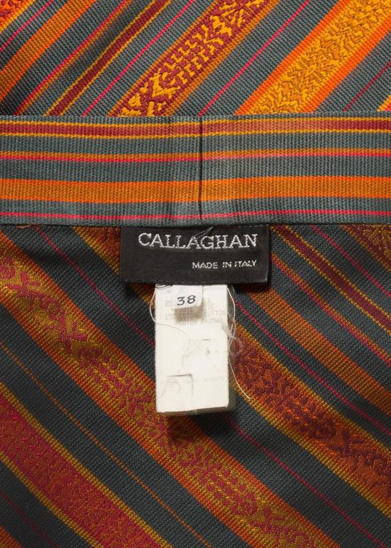 Romeo Gigli for Callaghan Spring-Summer 1991 silk pant and shawl ensemble For Sale 2