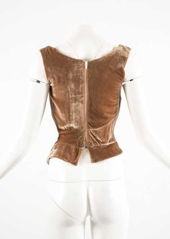 Vivienne Westwood Autumn-Winter 2001 drape velvet evening corset For Sale 2