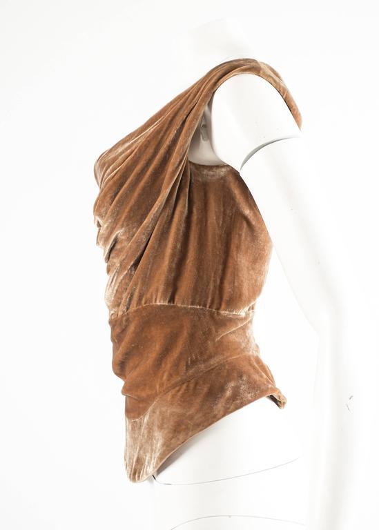 Vivienne Westwood Autumn-Winter 2001 drape velvet evening corset For Sale 1