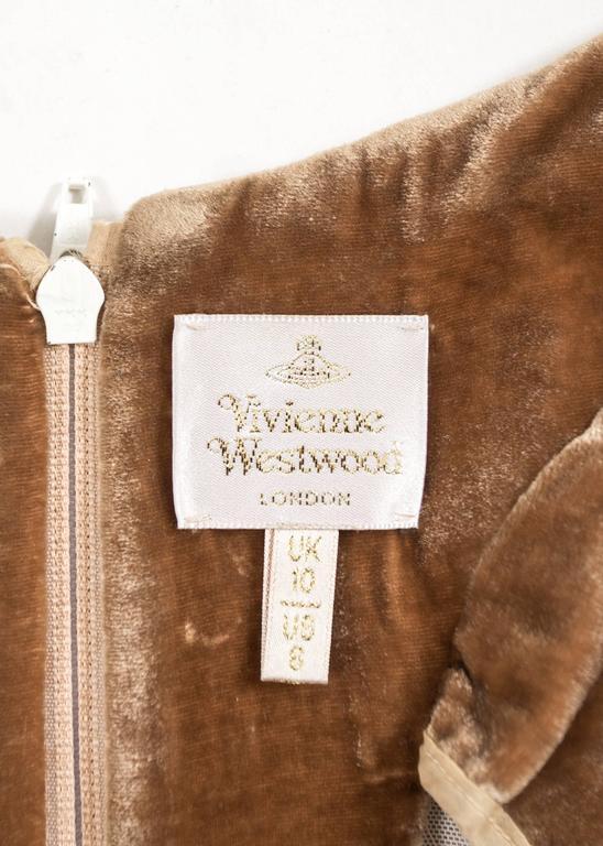 Vivienne Westwood Autumn-Winter 2001 drape velvet evening corset For Sale 4