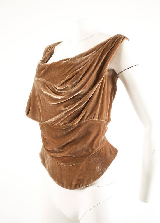 Vivienne Westwood Autumn-Winter 2001 drape velvet evening corset In Excellent Condition For Sale In London, GB