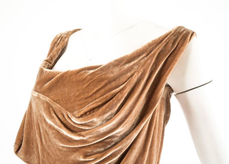 Women's Vivienne Westwood Autumn-Winter 2001 drape velvet evening corset For Sale
