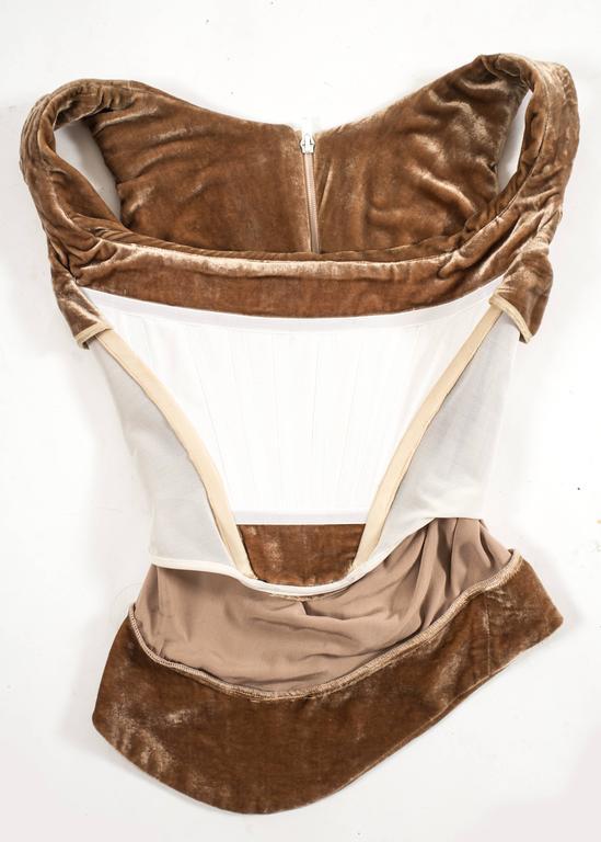 Vivienne Westwood Autumn-Winter 2001 drape velvet evening corset For Sale 3