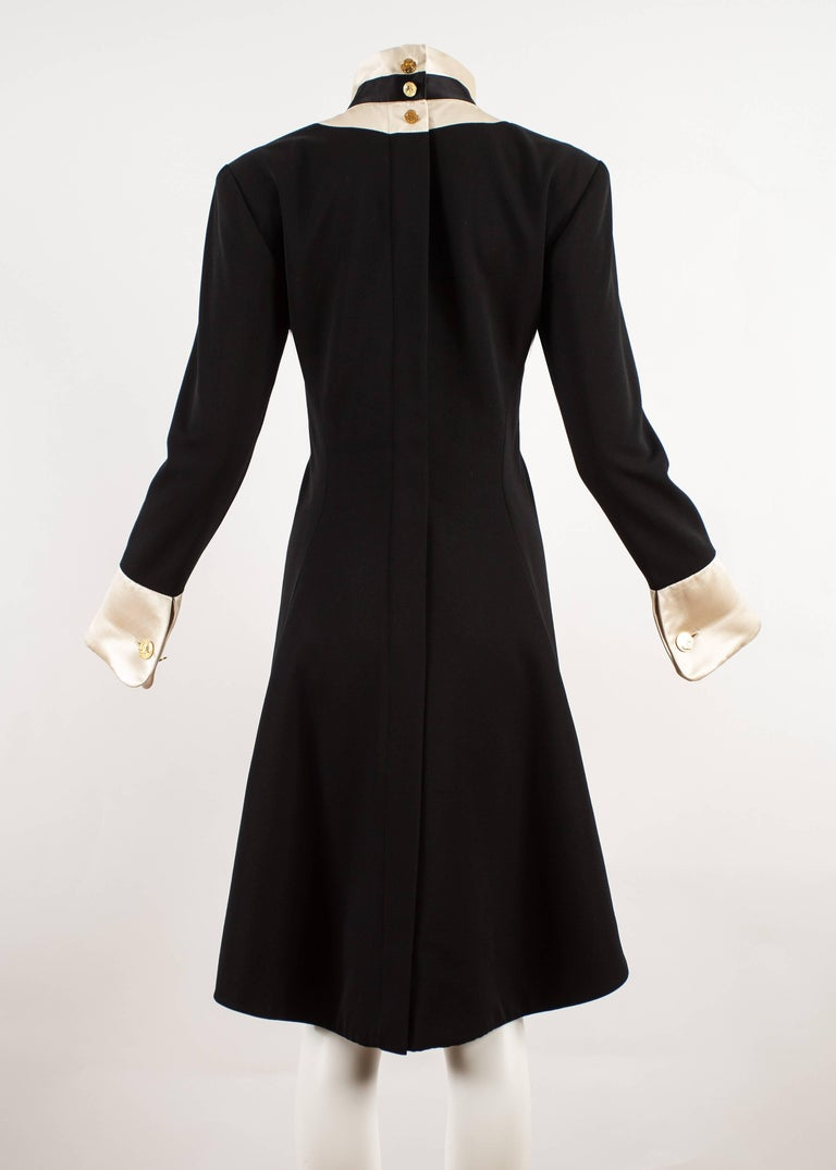 Chanel 1980s black silk evening tailcoat  For Sale 2