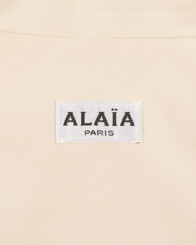 Alaia Spring-Summer 1988 cream cotton playsuit and jacket  7