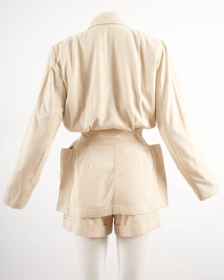 Alaia Spring-Summer 1988 cream cotton playsuit and jacket  5