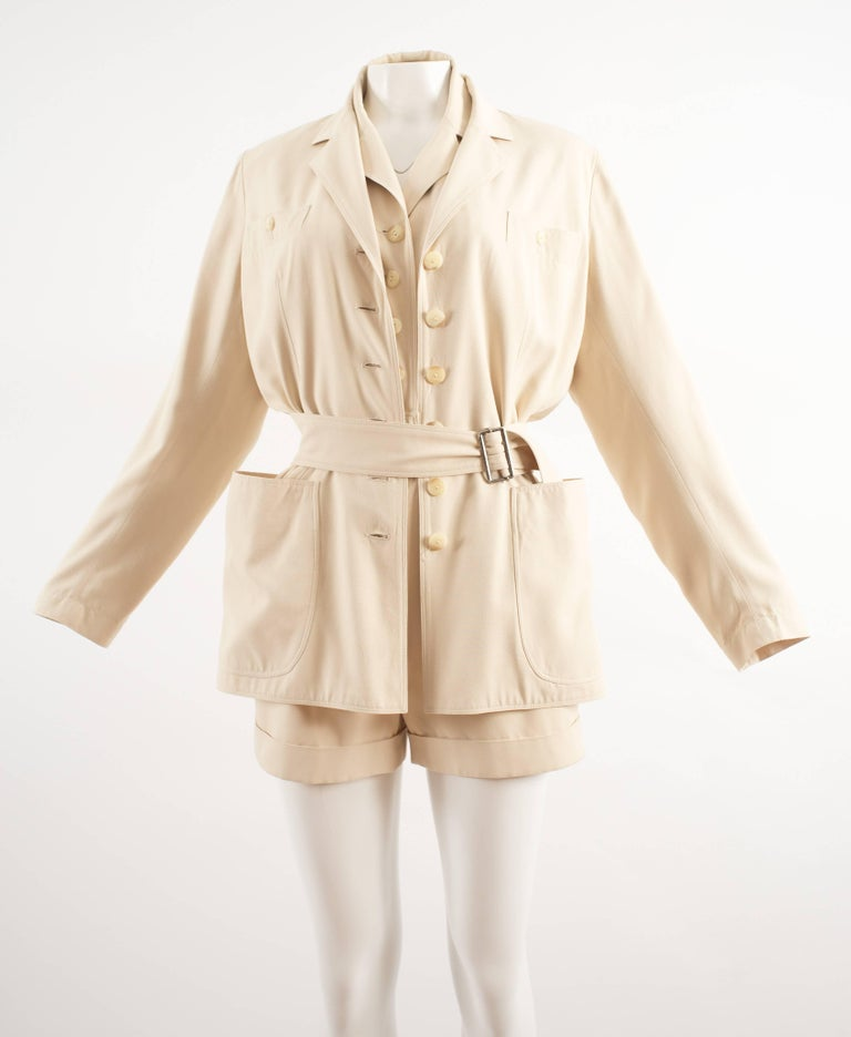 Alaia Spring-Summer 1988 cream cotton playsuit and jacket  3