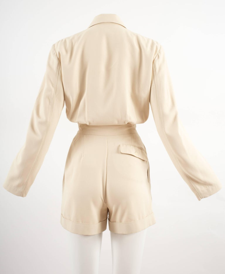 Alaia Spring-Summer 1988 cream cotton playsuit and jacket  6