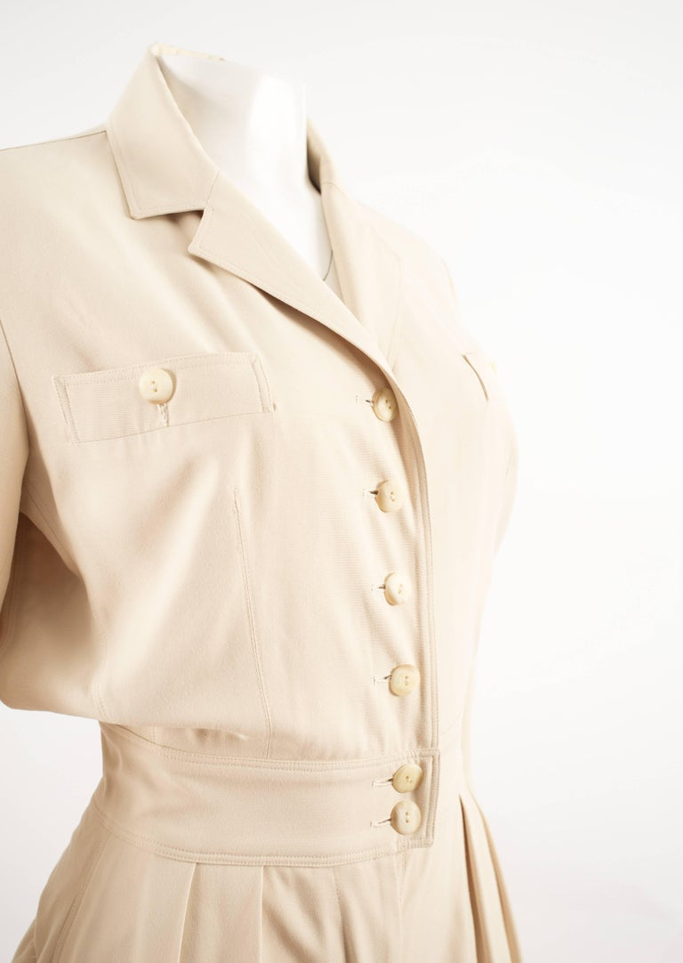 Alaia Spring-Summer 1988 cream cotton playsuit and jacket  2