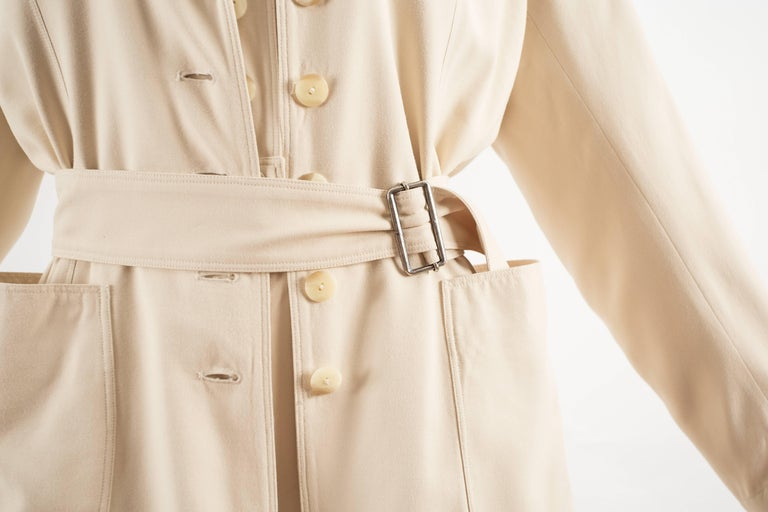 Alaia Spring-Summer 1988 cream cotton playsuit and jacket  4