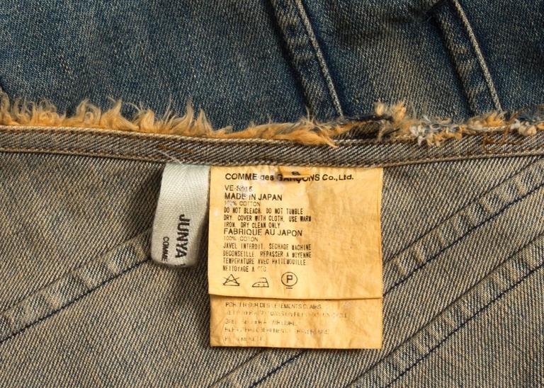 Junya Watanabe Spring-Summer 2002 bias cut denim flared skirt  For Sale 4