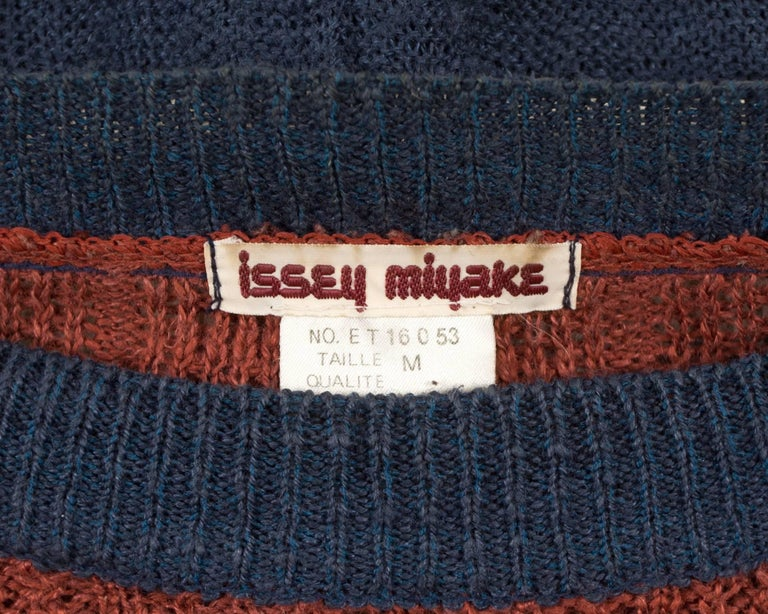 Issey Miyake Spring-Summer 1983 knitted sweater  9