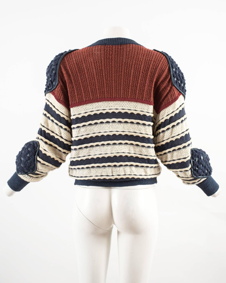 Issey Miyake Spring-Summer 1983 knitted sweater  8