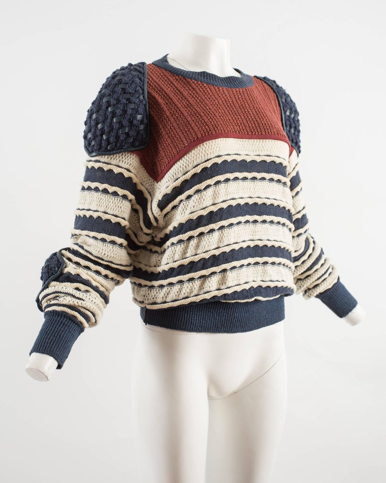 Issey Miyake Spring-Summer 1983 knitted sweater  5