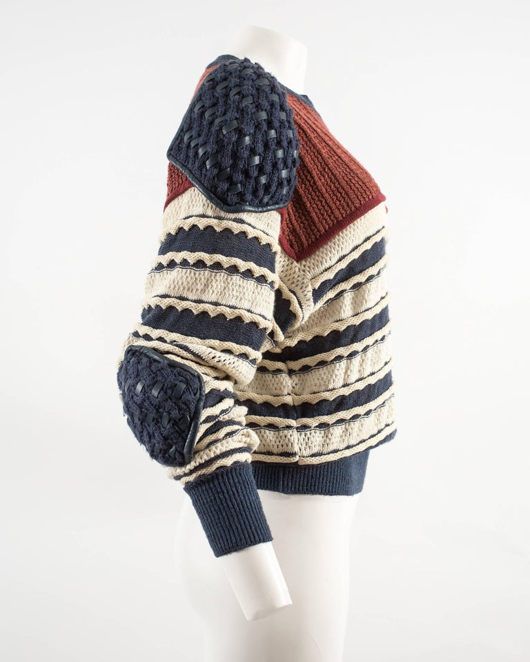 Issey Miyake Spring-Summer 1983 knitted sweater  7