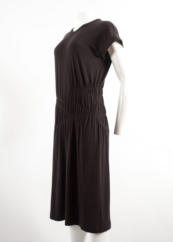 Women's Comme des Garcons 1983-84 black cotton smocked dress For Sale