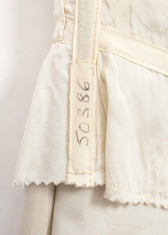 Christian Dior 1960s asymmetric silk evening a-line dress  For Sale 2