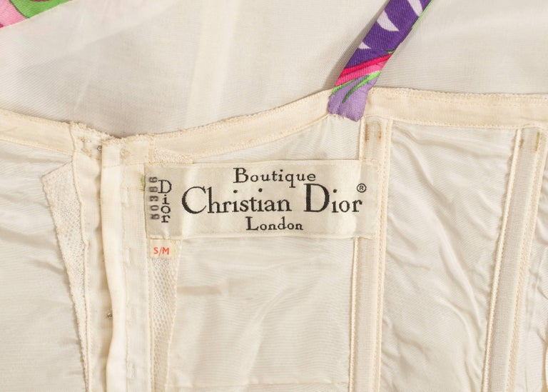 Christian Dior 1960s asymmetric silk evening a-line dress  For Sale 4