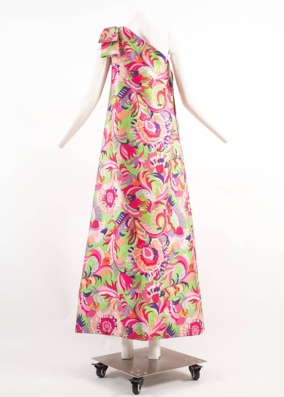 Women's Christian Dior 1960s asymmetric silk evening a-line dress  For Sale