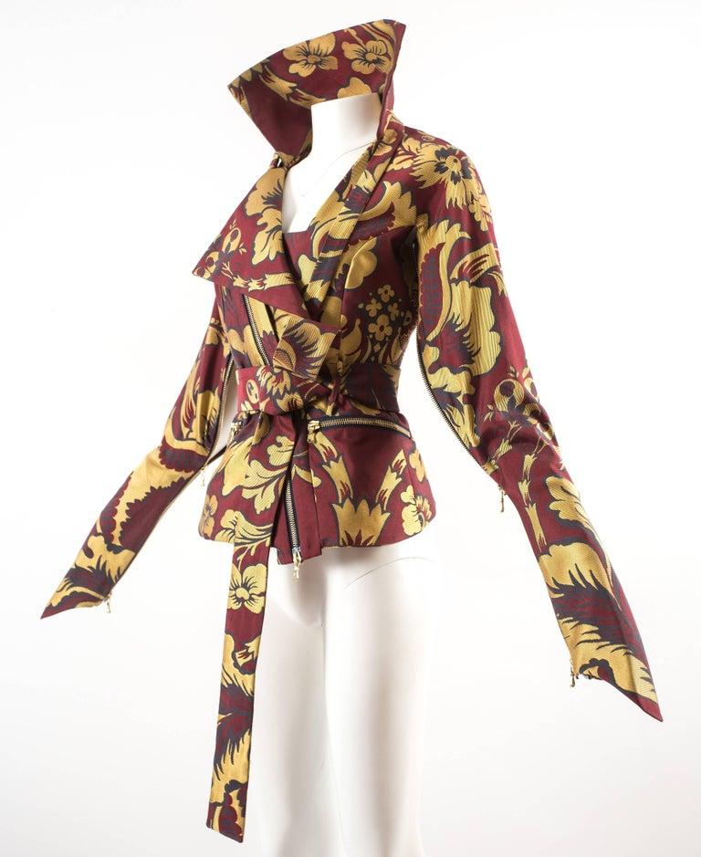 Women's Vivienne Westwood Autumn-Winter 2002 brocade bondage evening jacket  For Sale