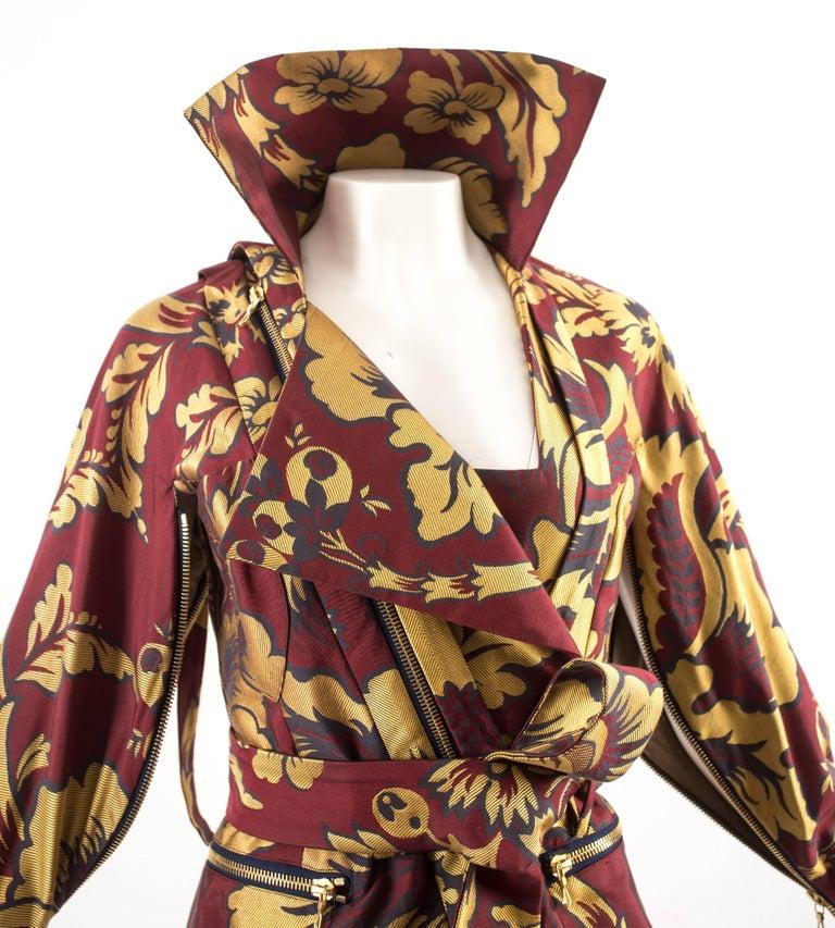 Brown Vivienne Westwood Autumn-Winter 2002 brocade bondage evening jacket  For Sale