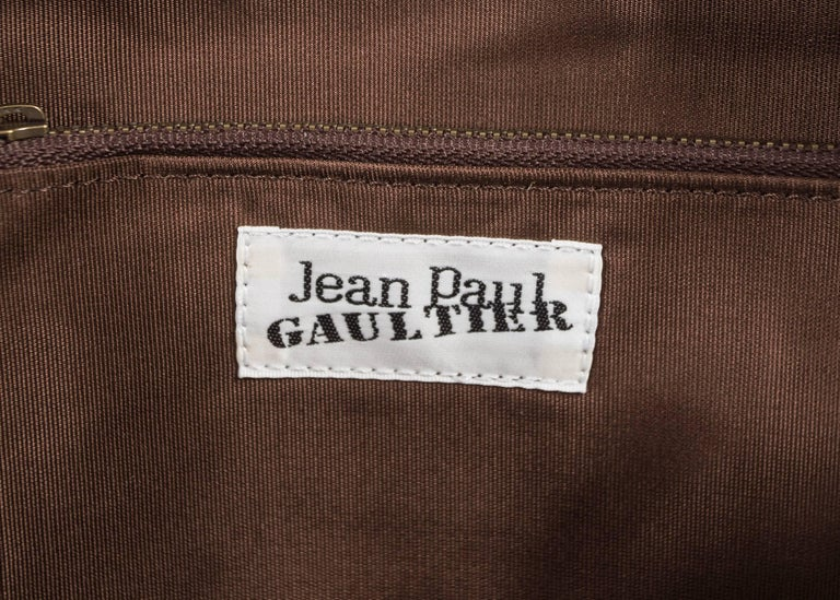 Jean Paul Gaultier 1998 brown leather bustier backpack  For Sale 2