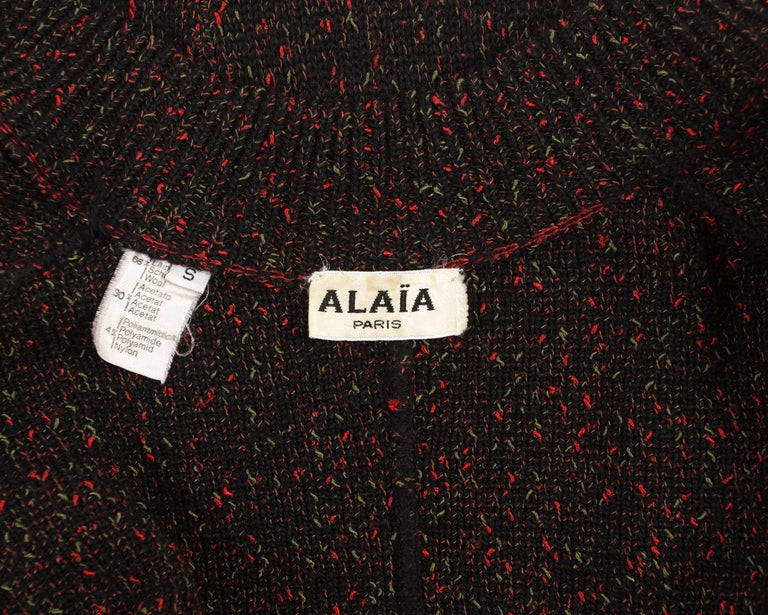 Alaia Autumn-Winter 1986 knitted zipper mini dress For Sale 3