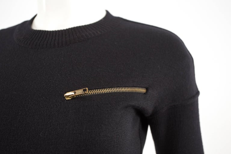 Alaia Autumn-Winter 1986 black knitted body con dress For Sale 1