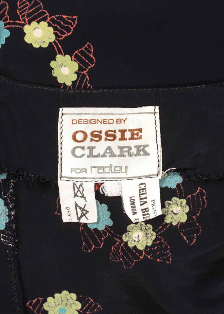 Ossie Clark 1970 mid length summer dress with Celia Birtwell print For Sale 3