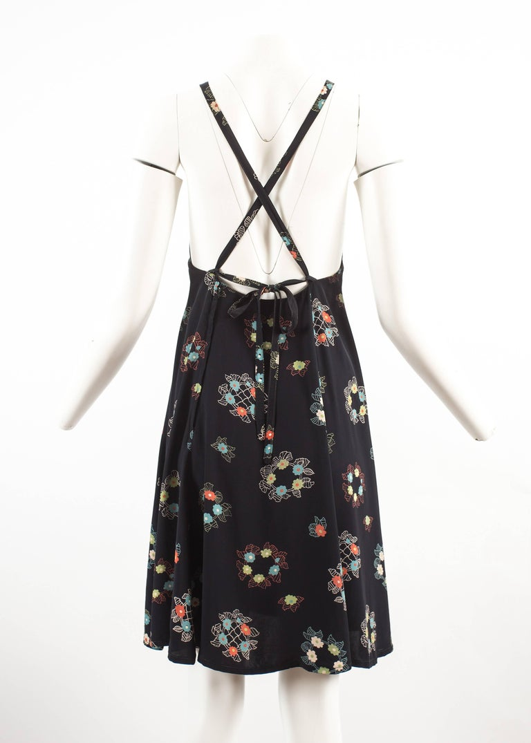 Ossie Clark 1970 mid length summer dress with Celia Birtwell print For Sale 1