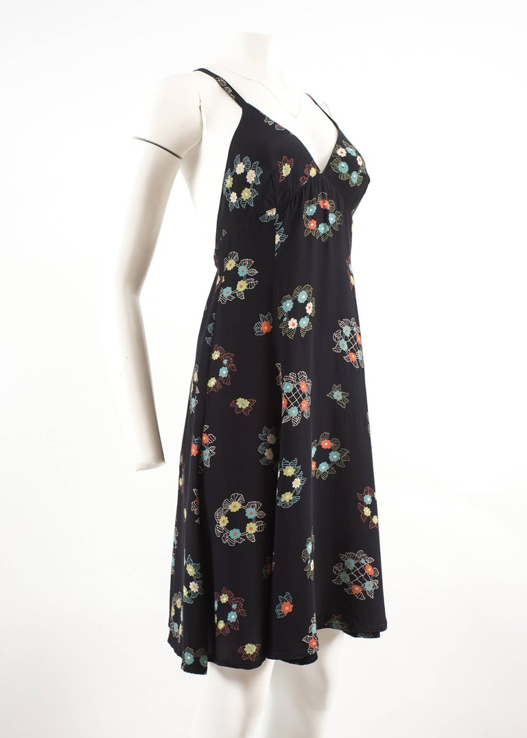 Ossie Clark 1970 mid length summer dress with Celia Birtwell print In Good Condition For Sale In London, GB