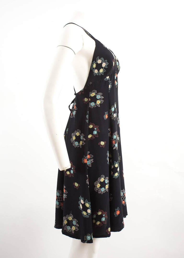 Women's Ossie Clark 1970 mid length summer dress with Celia Birtwell print For Sale