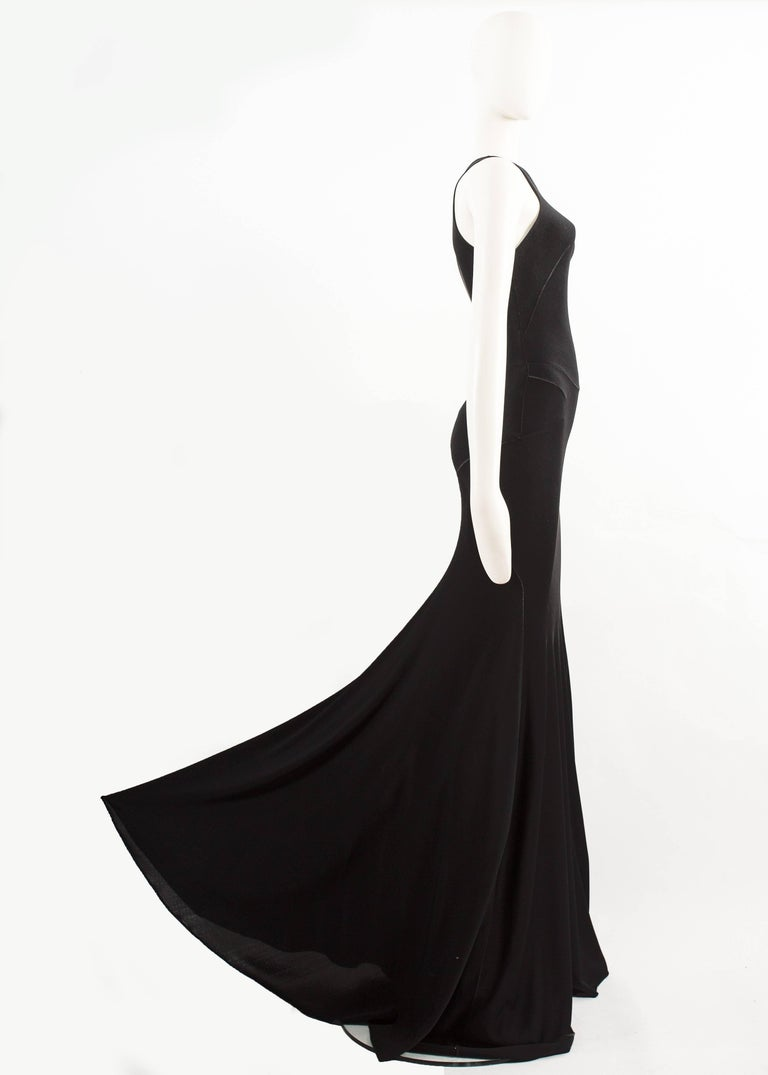Alaia couture black full length knitted evening gown, Autumn-Winter 2001  For Sale 1
