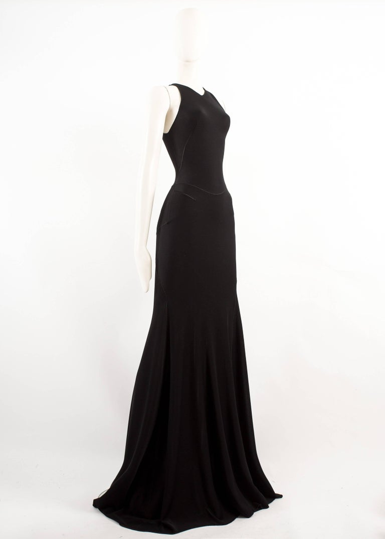 Alaia couture black full length knitted evening gown, Autumn-Winter 2001  In Excellent Condition For Sale In London, GB