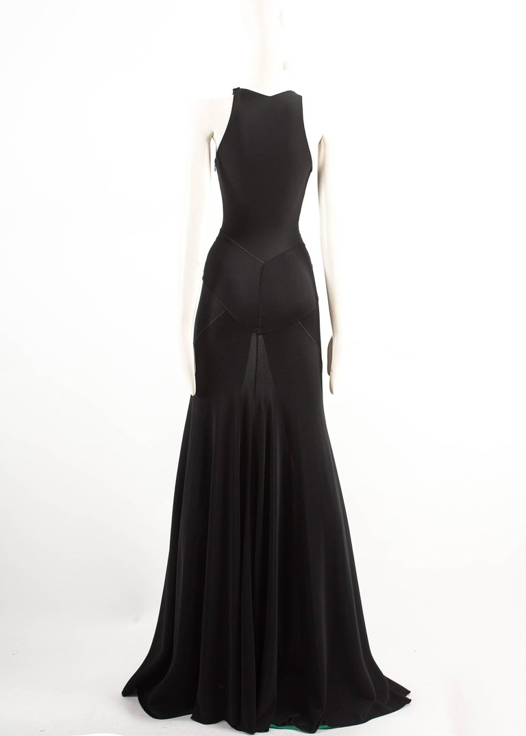 Alaia couture black full length knitted evening gown, Autumn-Winter 2001  For Sale 2