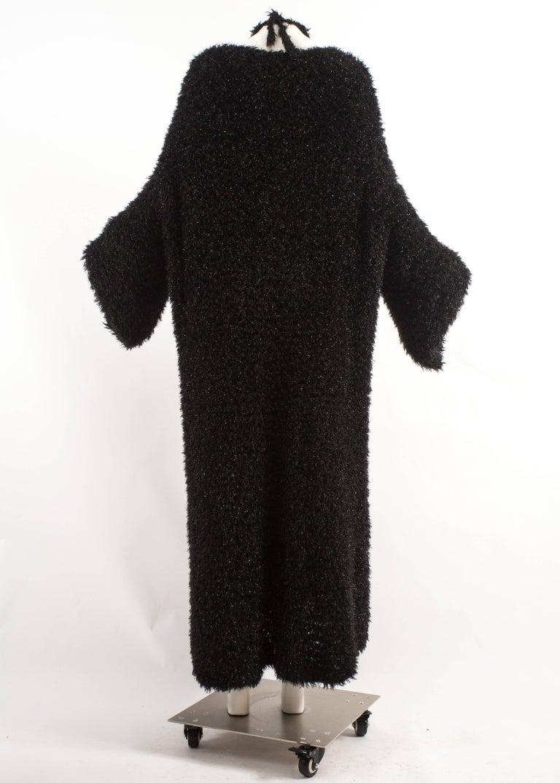 Yohji Yamamoto 1990s oversized black evening cardigan  For Sale 2