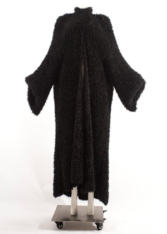 Yohji Yamamoto 1990s oversized black evening cardigan  In Good Condition For Sale In London, GB