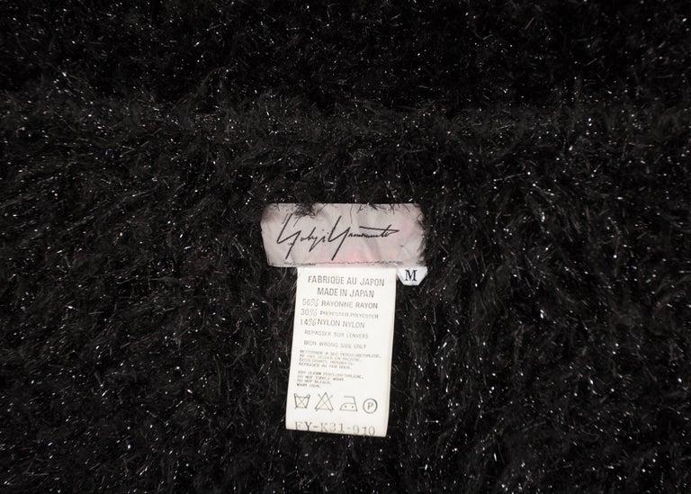 Yohji Yamamoto 1990s oversized black evening cardigan  For Sale 3
