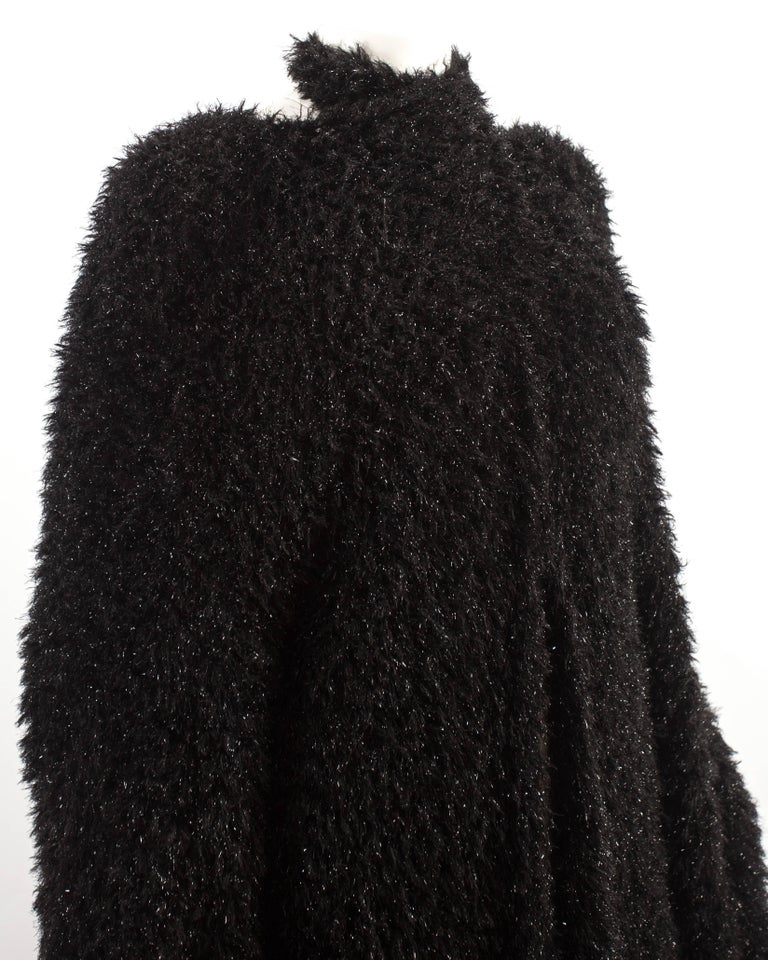 Women's Yohji Yamamoto 1990s oversized black evening cardigan  For Sale