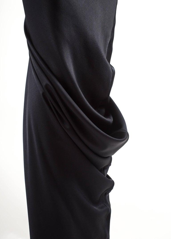 Black John Galliano midnight blue silk strapless evening dress, Autumn-Winter 1995  For Sale