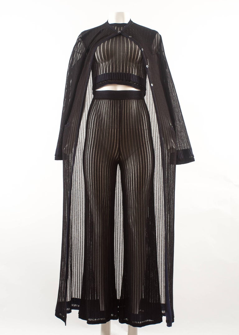 Alaia 3 piece knitted ensemble, Spring-Summer 1992  For Sale 1