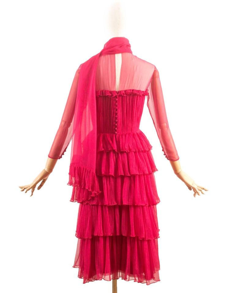 Chanel haute couture spring summer 1973 silk fuchsia for Haute couture sale