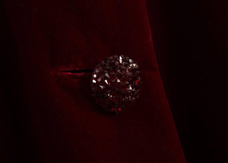 Christian Dior Haute Couture Autumn-Winter 1956 royal red silk velvet opera coat 5