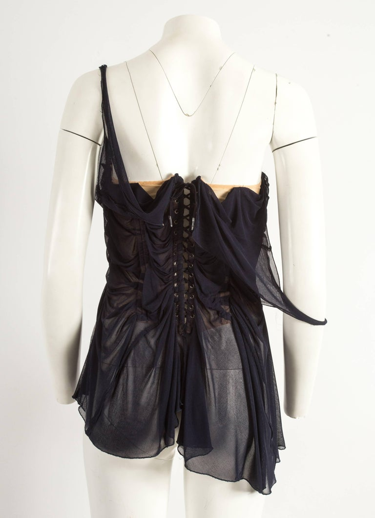 Jean Paul Gaultier Spring-Summer 2004 ruched chiffon corset  For Sale 2