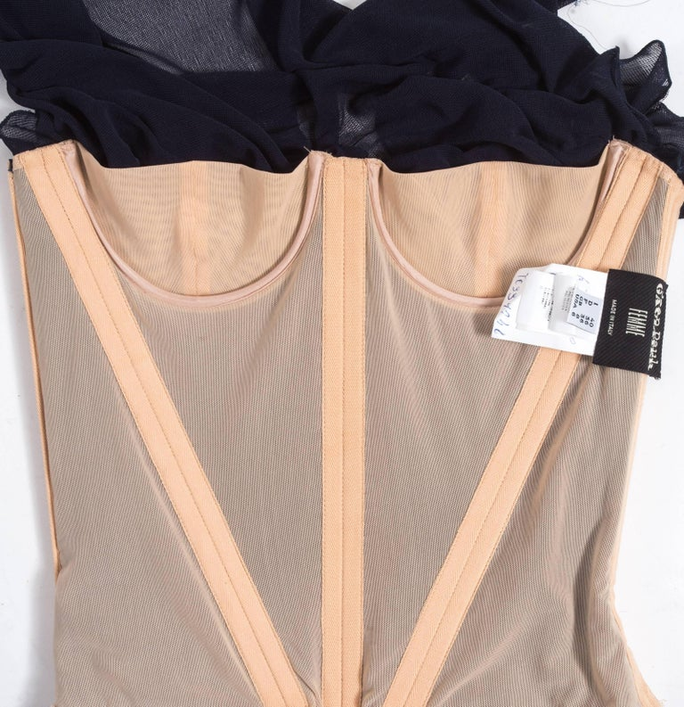 Jean Paul Gaultier Spring-Summer 2004 ruched chiffon corset  For Sale 3
